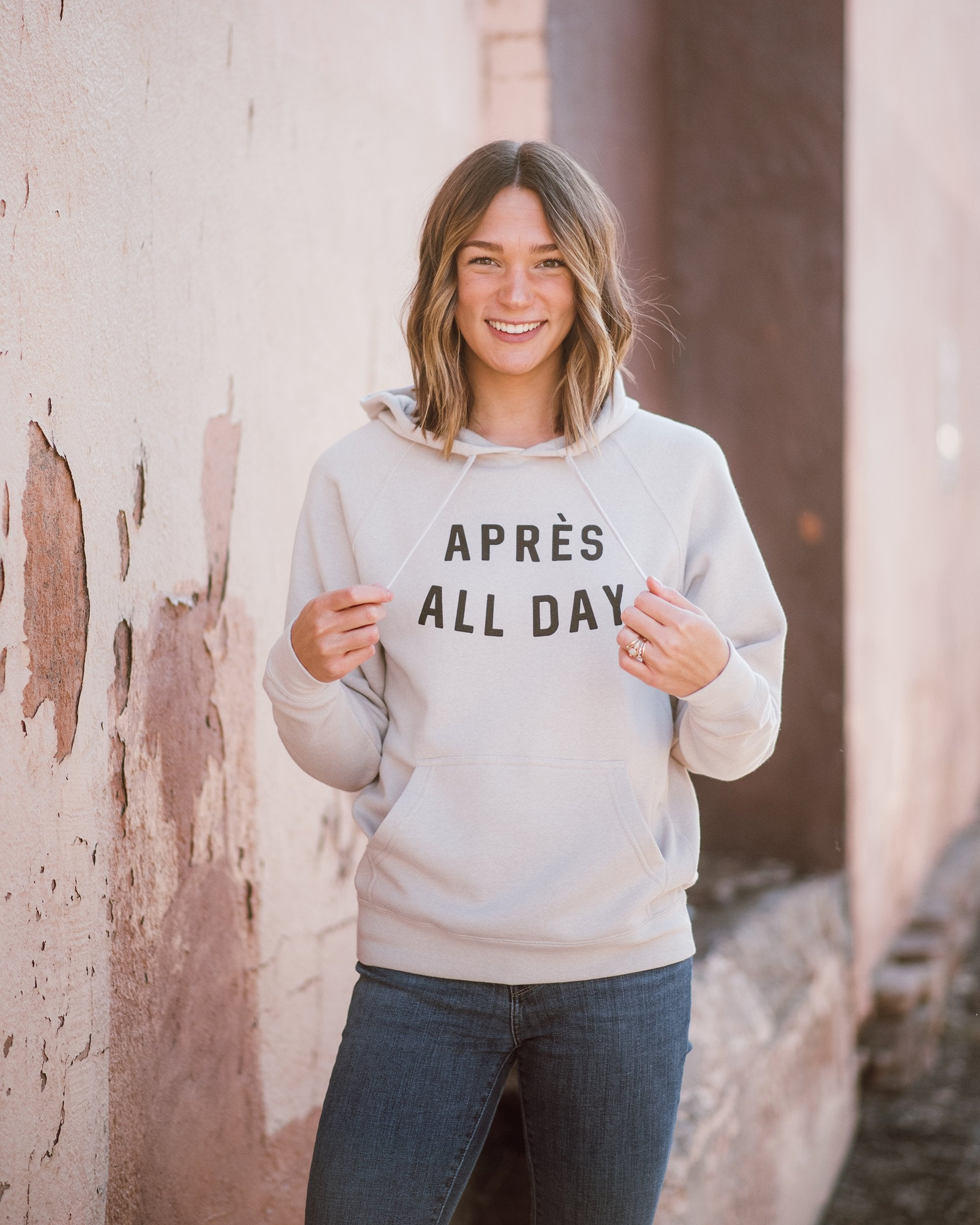 Après All Day Unisex Hoodie womens August Ink