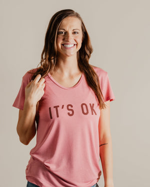 It's Ok Tee womens August Ink