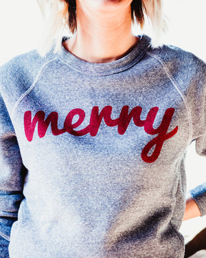 Merry Fleece Sweatshirt womens August Ink heather grey xsmall
