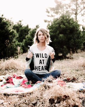 Wild At Heart Tee womens August Ink