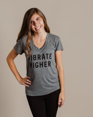 Vibrate Higher Tee womens August Ink grey XS
