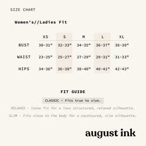 FoCo Script Tee womens August Ink