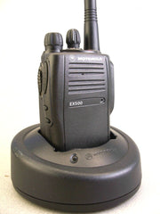 Mint Motorola EX500 UHF 16ch Radio w/Accessories