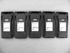 Five Motorola NNTN4497 Li-Ion Batteries CP200 PR400