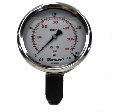 PRESSURE GAUGE 100mm face 400 Bar