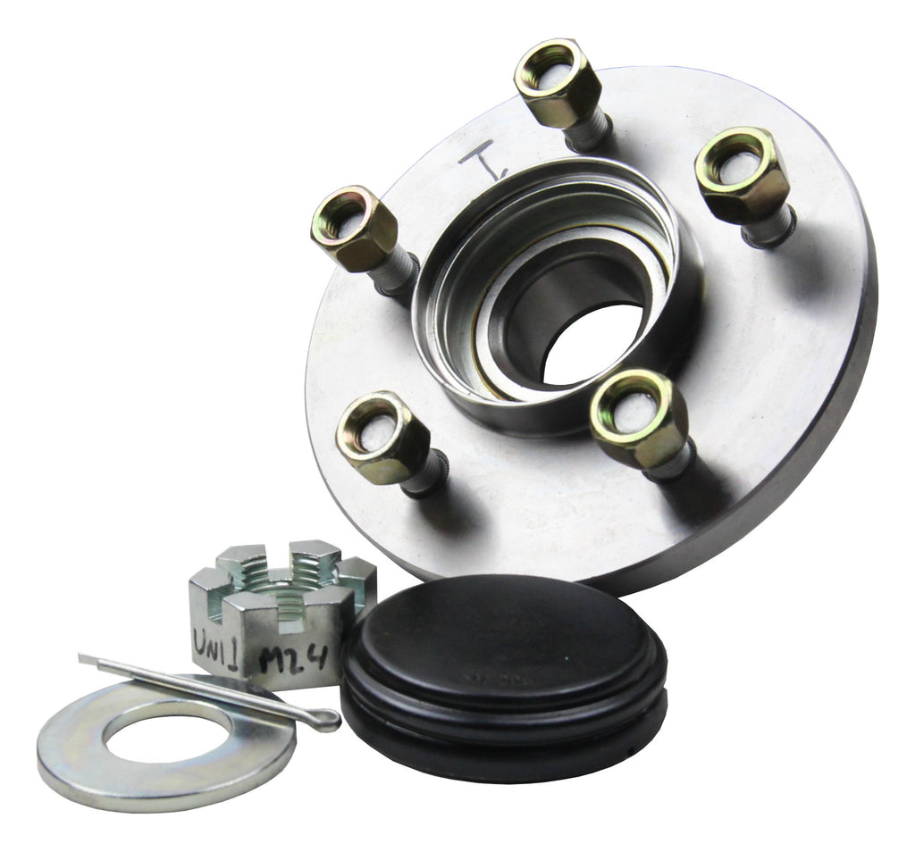 UNI-HUB 1, Assembly (Hub, Cap, Washer, Nut, Split pin)