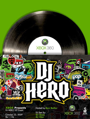 DJ HERO PARTY FOR XBOX…. HOSTED BY MISTER CARTOON & MOI