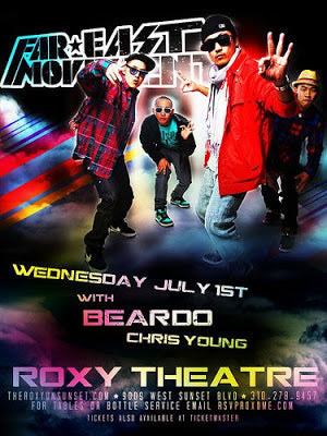 FAR EAST MOVEMENT'S 1ST HEADLINE SHOW!AT THE WORLD FAMOUS ROXY THEATER!