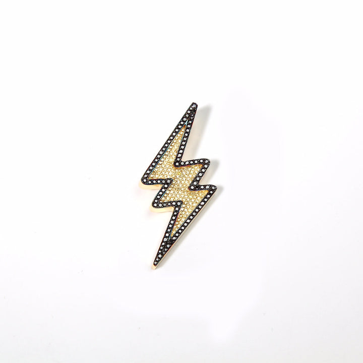 ICED OUT LIGHTNING BOLT PIECE FOR JBALVIN