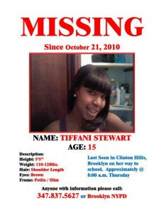 15 YEAR OLD MISSING IN BROOKLYN, NYC! ***EDIT*** SHE WAS FOUND! THANK YOU!