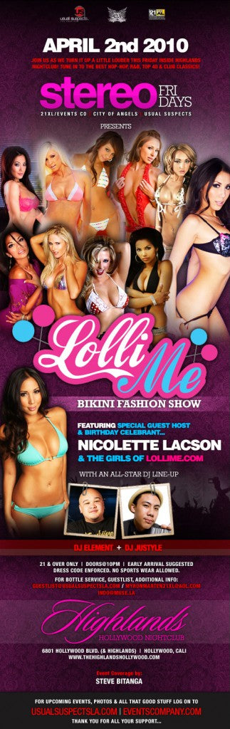 COME JOIN ME TOMORROW! BIKINI SHOW @ HIGHLANDS… HAPPY B-DAY NICOLETTE