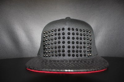 CUSTOM SNAKESKIN SPIKED HAT BY MICHAEL SA