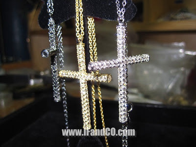 FULLY ICED OUT DIAMOND ROSARY CROSSES