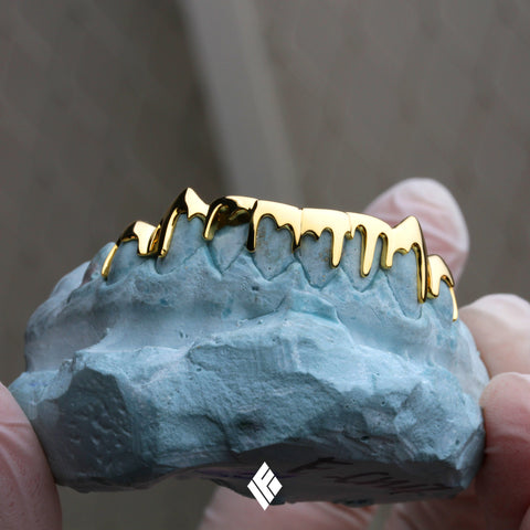 Custom Gold Drip Grillz