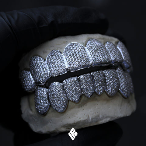 Playboi Carti White Gold Diamond Grillz