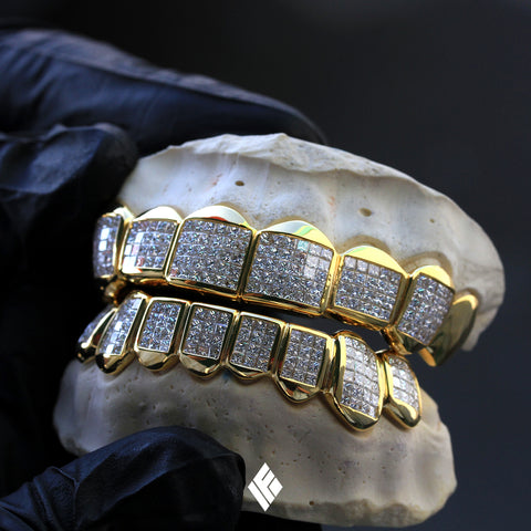 Schoolboy Q Yellow Gold Princess Cut Diamond Grillz
