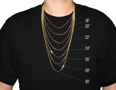 Necklace Size Chart – IF & Co.