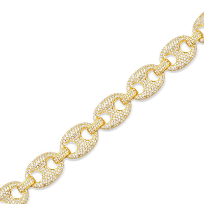 Diamond Ocean Link Bracelet (13mm) - Bracelets - IF & Co. Custom Jewelry