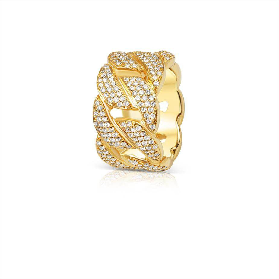 Cuban Link Eternity Ring (Fully Iced) - Rings - IF & Co. Custom Jewelry