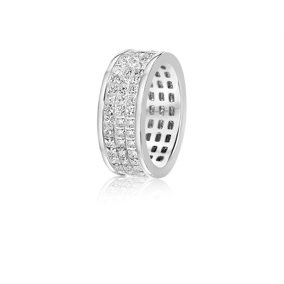 Monte Eternity Ring (3-Row)