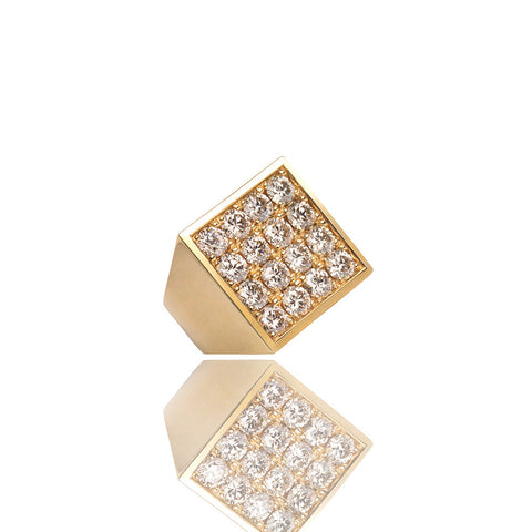 Fyra Diamond Ring Yellow Gold Ifandco
