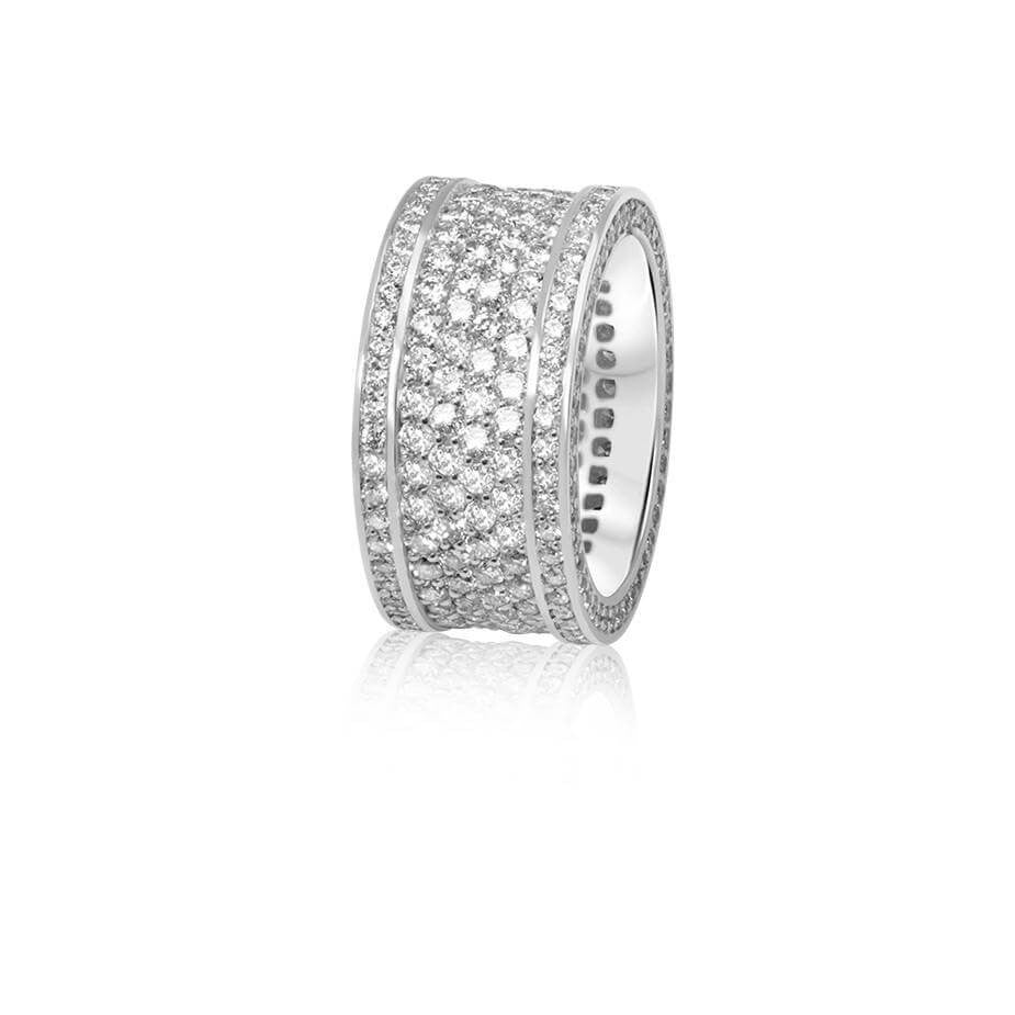 Massimo Eternity Ring (4-Row) - Rings - IF & Co. Custom Jewelry