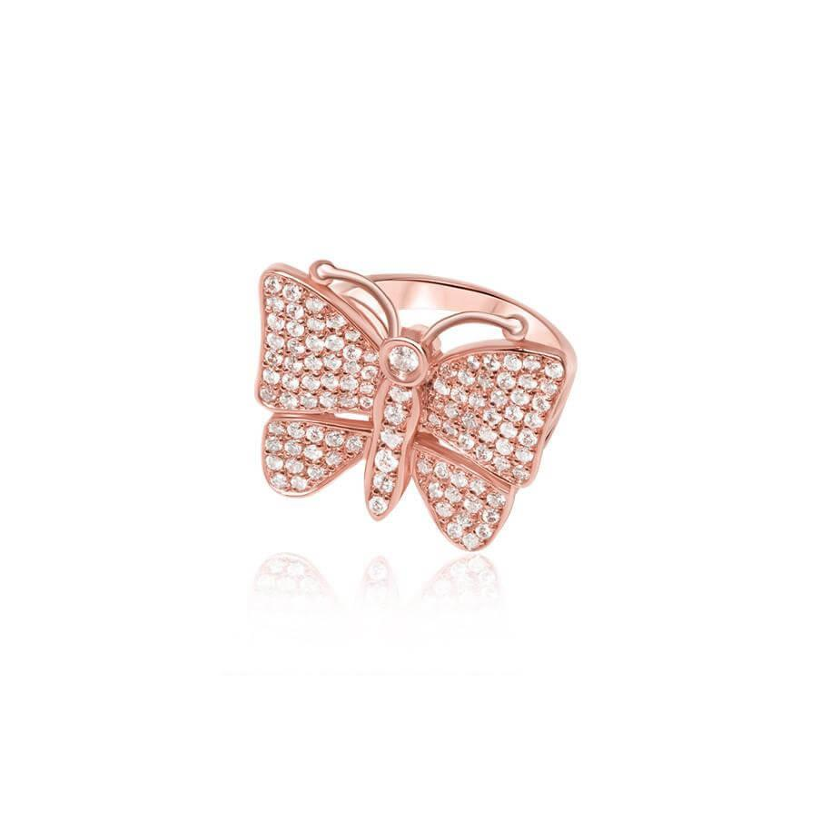 Diamond Butterfly Ring (Fully Iced)