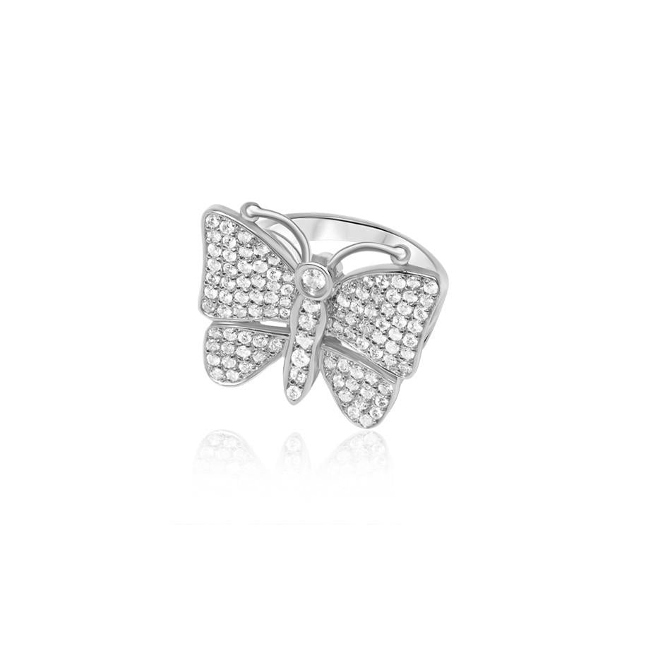Diamond Butterfly Ring (Fully Iced) - Rings - IF & Co.