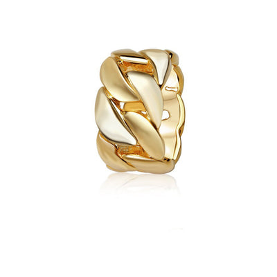 Gold Cuban Link Ring (Oversized) - Rings - IF & Co. Custom Jewelry