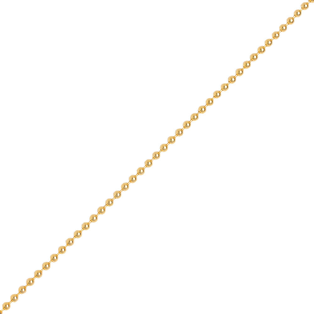 Yellow gold ball chain