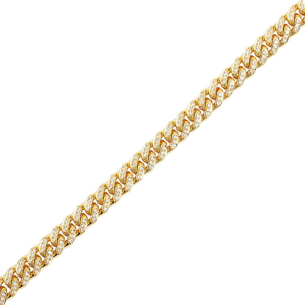 Fully Iced Cuban Link Chain (7mm)