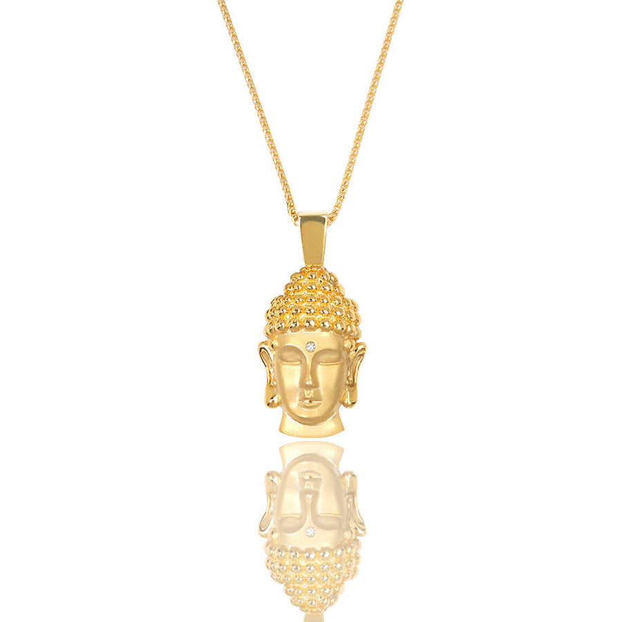 Legacy Piece: Micro Buddha Piece (Diamond Urna) - Pendants - IF & Co. Custom Jewelry