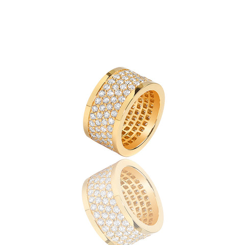 Lenox Ring 4-Row Yellow Gold Ifandco