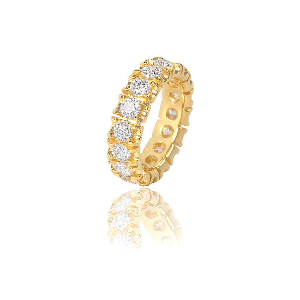 Diamond Manhattan Ring Ifandco Yellow Gold