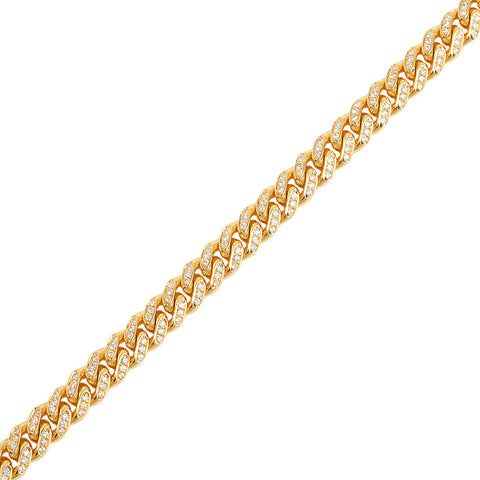Fully Iced Cuban Link Chain (9mm)