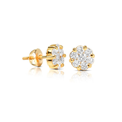 Micro Dax Diamond Cluster Earrings - Earrings - IF & Co.