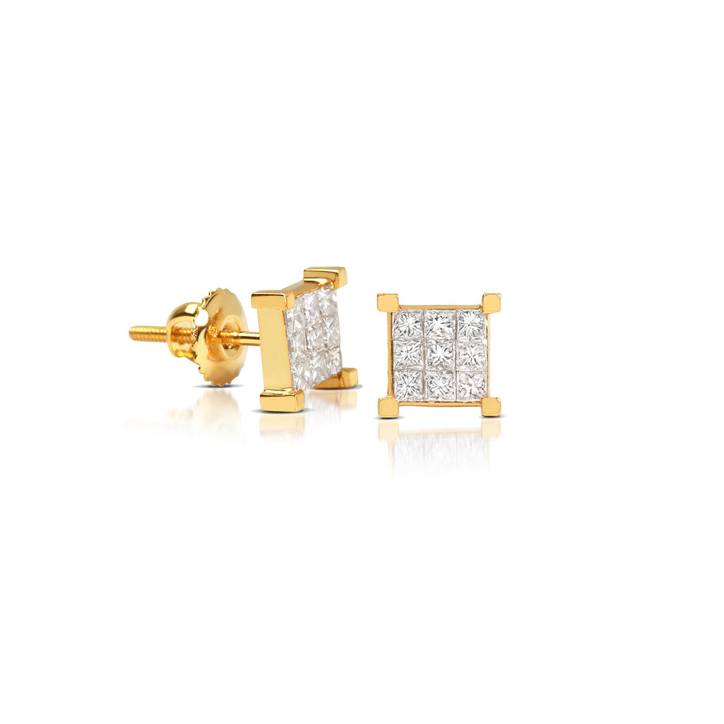Micro Davin Diamond Cluster Earrings - Earrings - IF & Co. Custom Jewelry