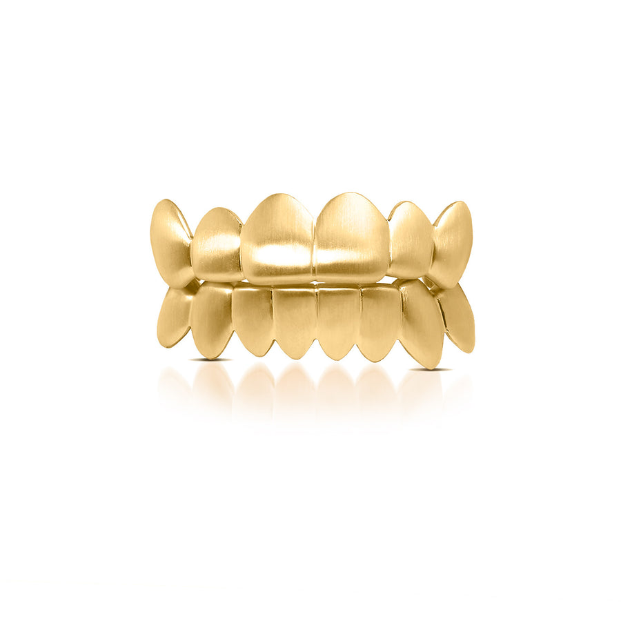 Satin Gold Grill - Grills - IF & Co. Custom Jewelry