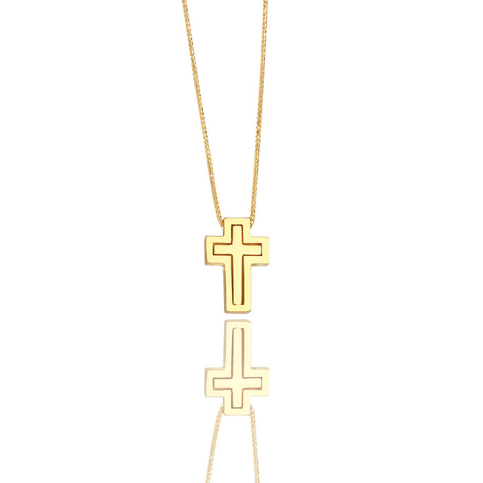 Micro Lindsay Cross Necklace - Pendants - IF & Co.