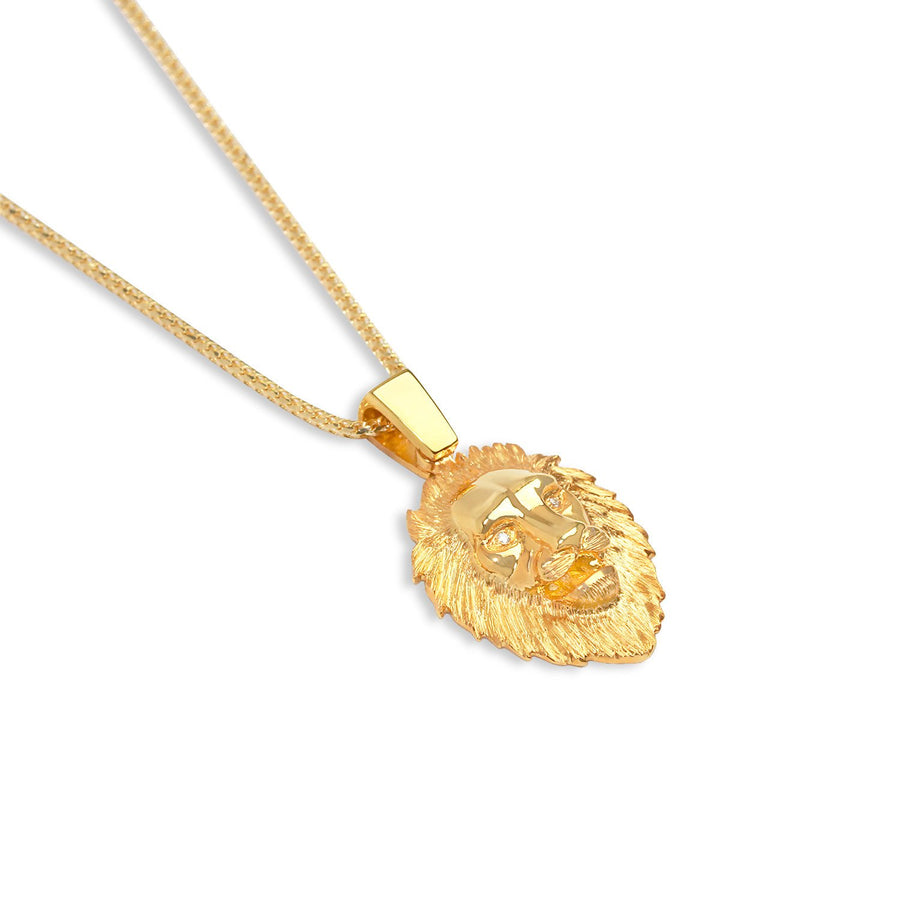 Legacy Piece: Micro Lion Piece (Diamond Eyes) - Pendants - IF & Co. Custom Jewelry