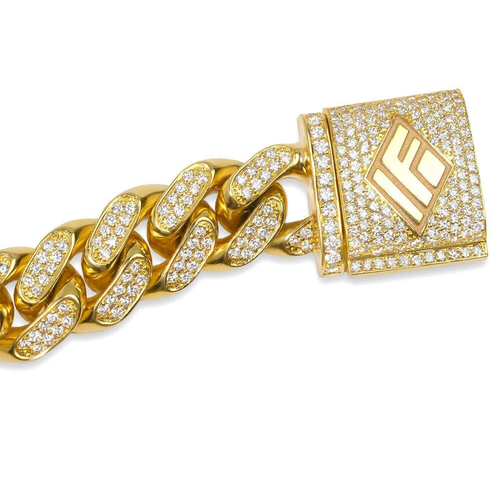 Diamond Cuban Link Chain (11mm) - Chains - IF & Co. Custom Jewelry