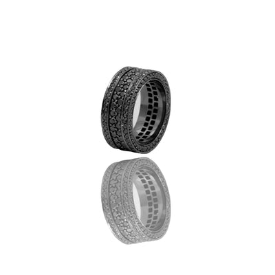Massimo Eternity Ring (Special Black, 2-Row) - Rings - IF & Co. Custom Jewelry
