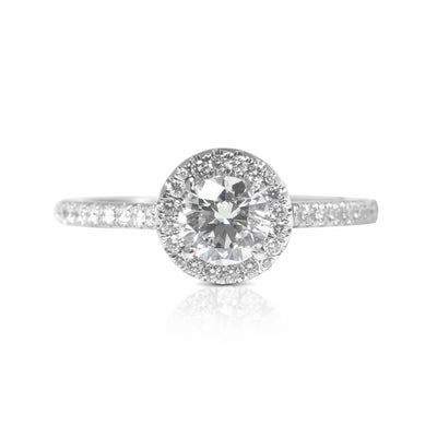 Elle Halo Engagement Ring (1.50ct) - Rings - IF & Co. Custom Jewelry