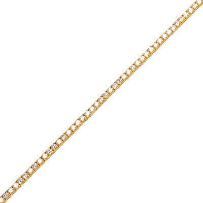 Vincent Diamond Tennis Bracelet (Micro, 5-Point)