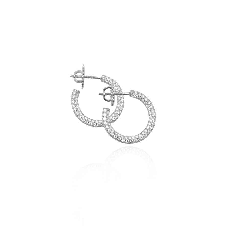 Cali Diamond Hoop Earrings - Earrings - IF & Co. Custom Jewelry