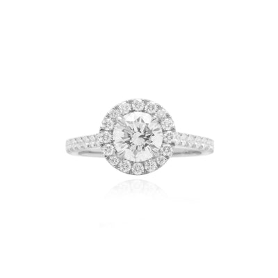 Elle Halo Engagement Ring (1.00ct)
