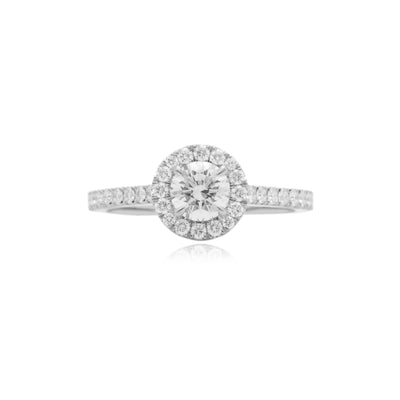 Elle Halo Engagement Ring (0.50ct)