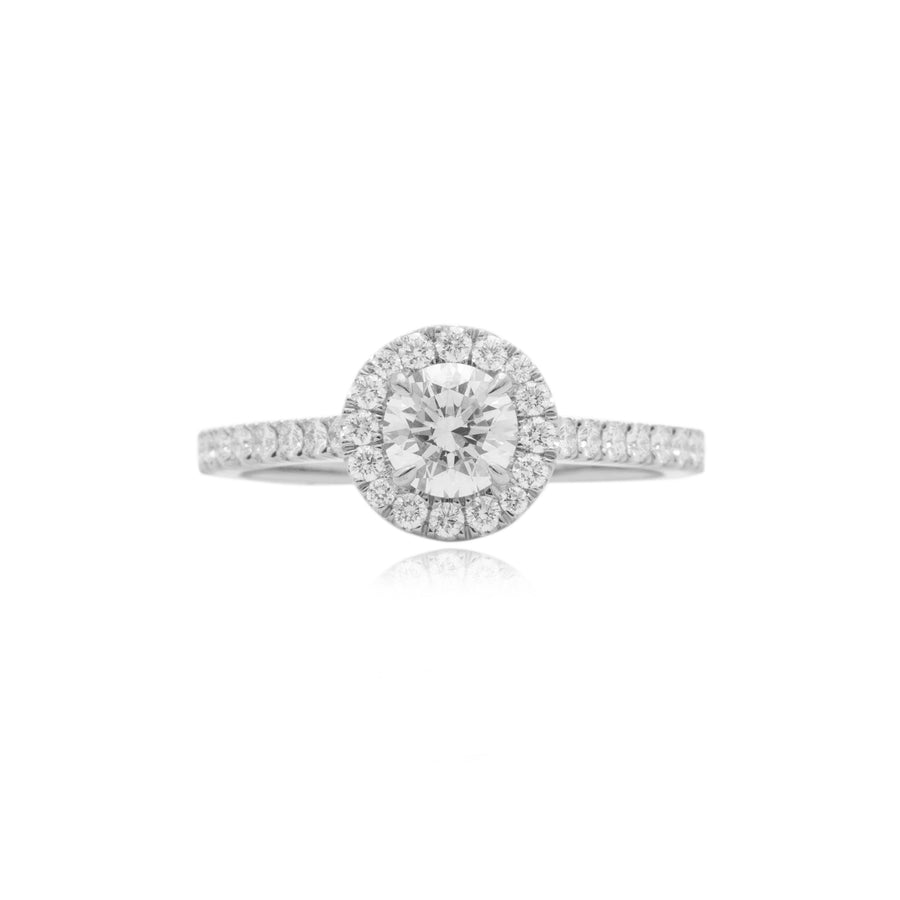 Elle Halo Engagement Ring (0.50ct) - Rings - IF & Co. Custom Jewelry