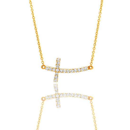 Ally Necklace Yellow Gold Ifandco