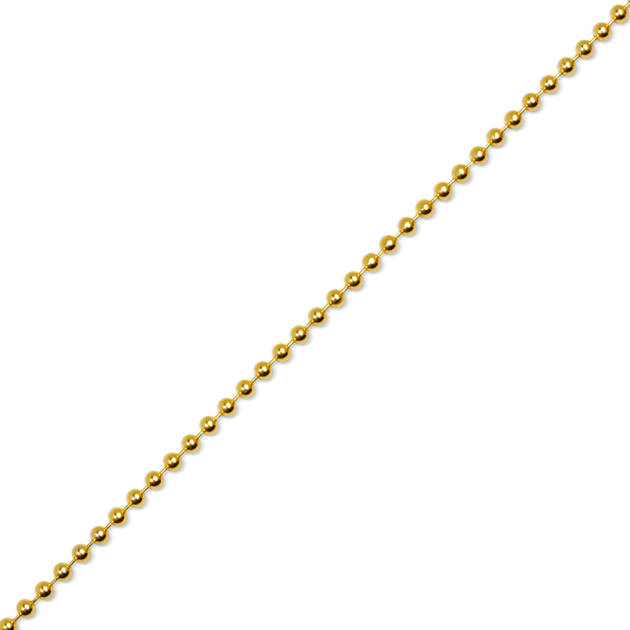 Gold Ball Chain (3.0mm) - Chains - IF & Co. Custom Jewelry